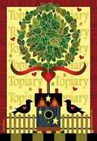 Country Topiary Decorative Small Garden Flag Yard Art