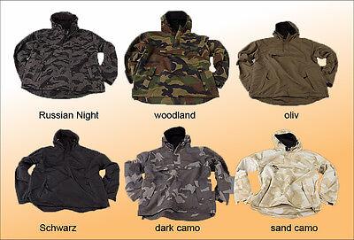 Hooded Windbreaker Jacke mit Fleece Futter gefüttert Kapuze Hoodie S M L XL XXL