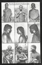 German East Africa People Head Decoration Tattoo Mission 1910