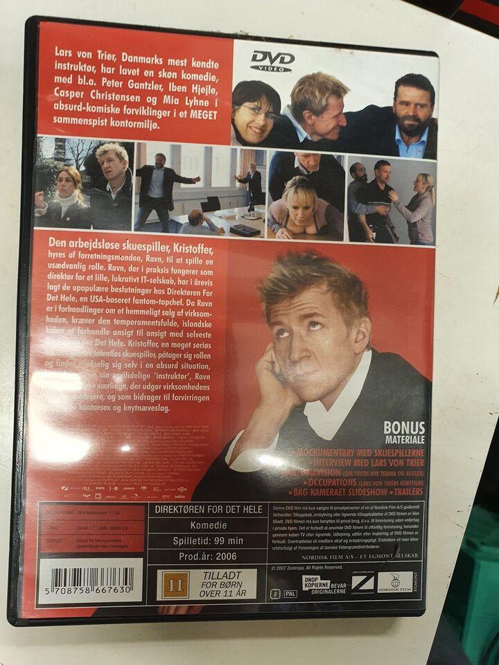 Direktøren for det hele, DVD, komedie