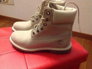Dettagli su TIMBERLAND ORIGINAL donna Scarponcini bianchi waterproof white boot numero 39