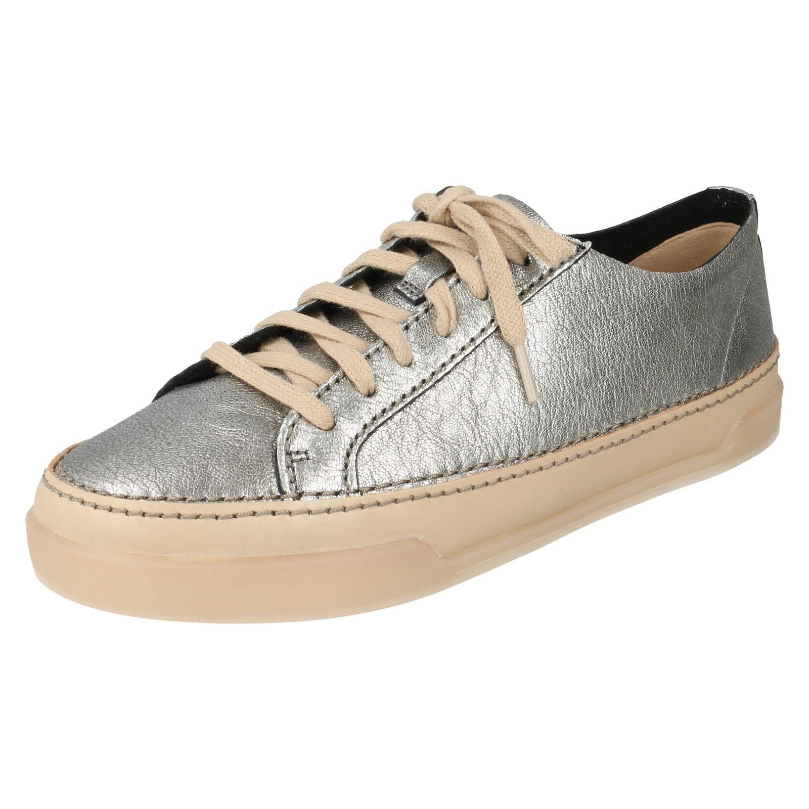 Damas Clarks Zapatos Con Cordones De Cuero Casuales Casuales Casuales Deportivas Plana Zapatillas Seratos HIDI Holly  buen precio