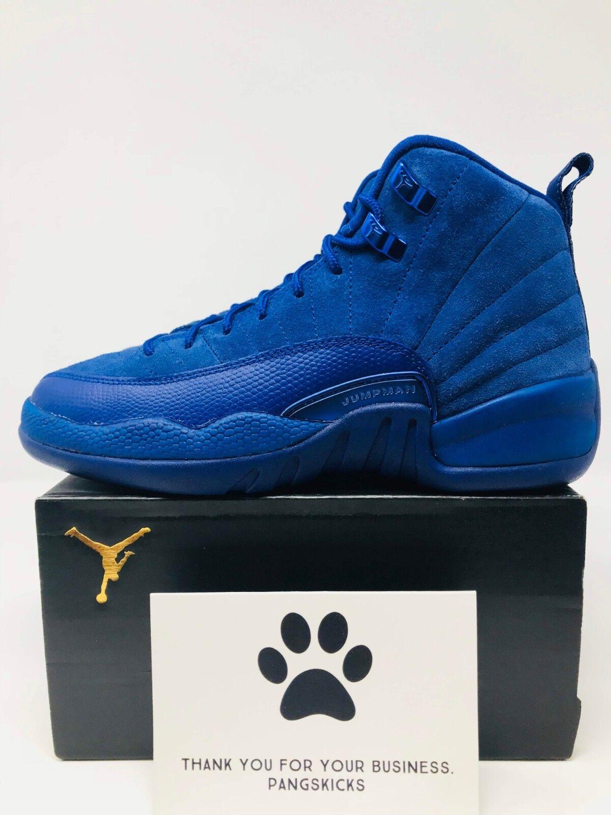 f0c6df0e Nike Air Jordan 12 XII Retro BG Deep Royal Blue Suede153265 400 Size 5.5y