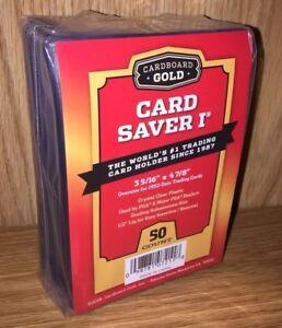 50 Ct Card Saver I Cardboard Gold PSA Graded Semi Rigid Holders BRAND NEW CS 1