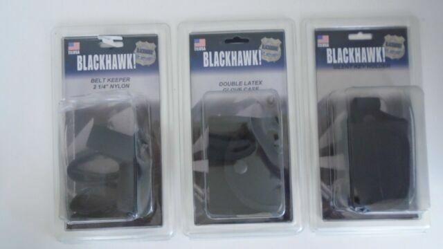 "BlackHawk 44B351BK Black Cordura Nylon Duty Gear Traditional 2.25/"" Belt Keepers"
