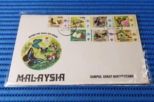 1971-Malaysia-First-Day-Cover-Butterflies-Melaka-Commemorative-Stamp-Issue