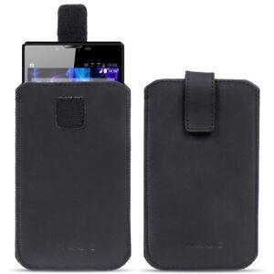 Leder-Tasche-Pull-Tab-Sleeve-Smartphone-4-7-5-8-Zoll-Huelle-Schutzhuelle-Cover