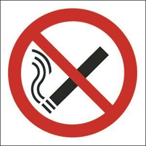 Signal De Sécurité Non Fumeur Symbole 100x100mm Auto-adhésives (lot De 5) [sr71045]-afficher Le Titre D'origine B1cvzvpc-07225152-797963525