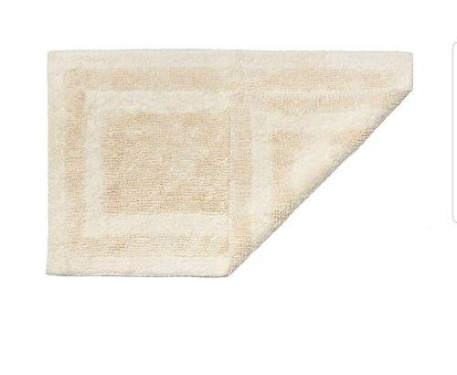 "Wellspun 30/""×48/"" Hygrosoft Reversible Bath Rug Vanilla Fast Drying And Absorbent"