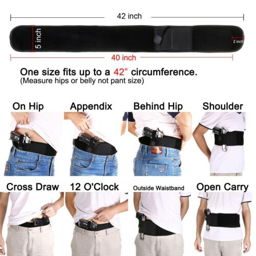Concealed Carry Ultimate Belly Band Holster Gun Pistol Holsters Fits all Pistol