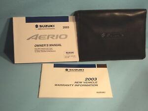 03 2003 suzuki aerio owners manual ebay rh ebay com 2003 suzuki aerio owner's manual pdf suzuki liana 2003 service manual