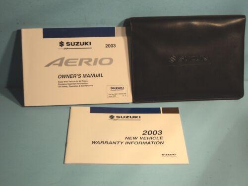 03 2003 Suzuki Aerio owners manual