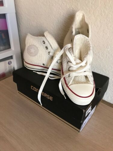 Off Donna Converse Taylor Star White di All High tela Scarpe Chuck Top f6g7ybY