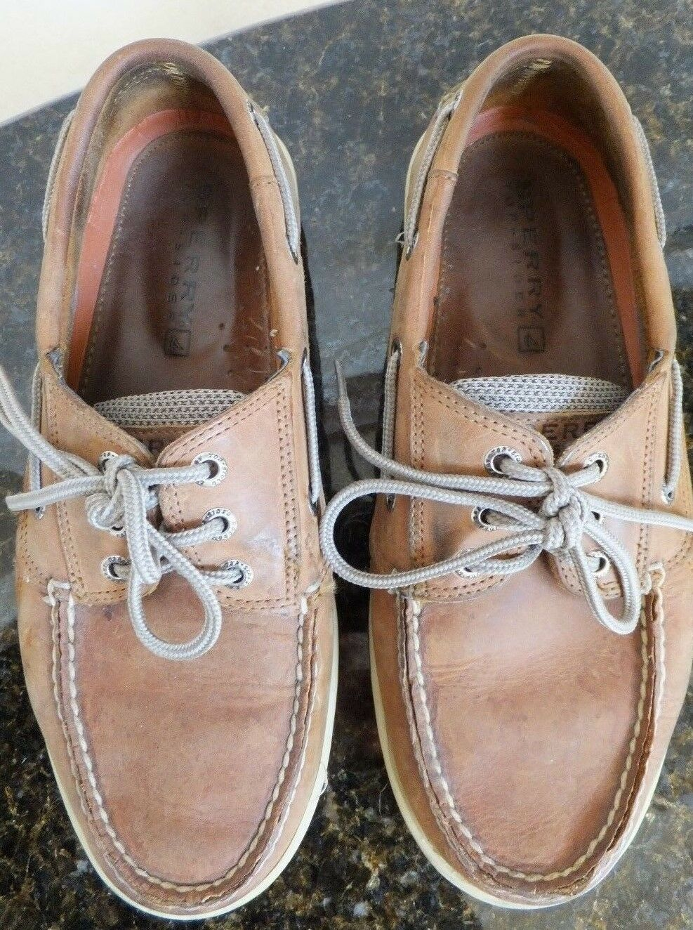 Sperry Tan Topsider Contour System Men's Shoes Size 8.5M Tan Sperry / Brown, leather upper 4f5b6a
