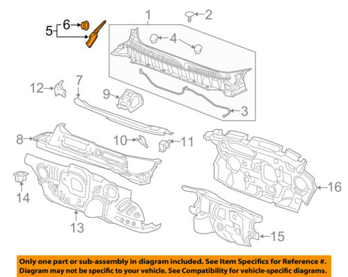 Cadillac GM OEM 17-18 XT5 Cowl-Side Cover Right 84027261
