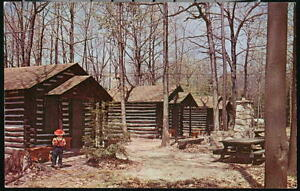 DUBOIS PA Elliott State Park Cabins Vintage Postcard Old Clearfield Penfield PC