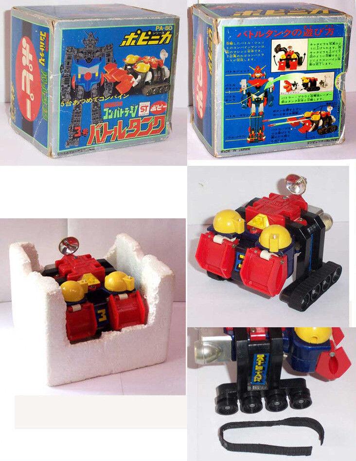 Combattler Combattra PA-80 popy popinica Bandai chogokin anime robot old toys