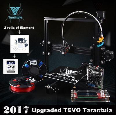 TEVO TARANTULA-PRUSA i3 New 3D PRINTER DIY KIT+2 FILAMENTS+8GB CARD DHL/FEDEX