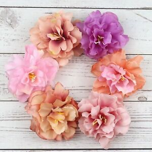 10P-Artificial-Silk-Rose-Peony-Big-Carnation-Flower-Heads-Craft-Decor-U-pick