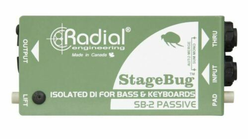 Radial Stagebug-2 SB-2 Passive DI for bass acoustic and keyboard