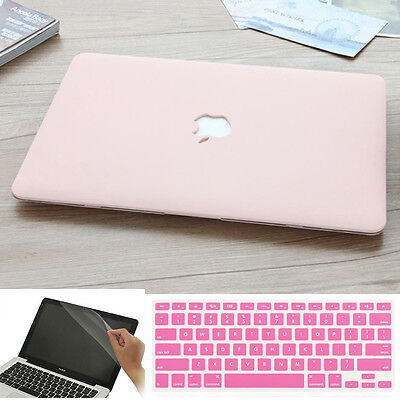 "3in1 Cream Series Rubberized Matte Case for MacBook 12/"" Air Pro 11/"" 13/"" 15/"" 2016"