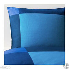 Ikea Brunkrissla Twin Blue/Green Duvet Cover Pillowcase Bedding 100%Cotton