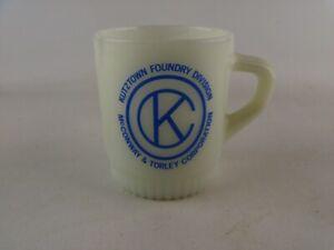 Vintage Fire King Mug Cup Kutztown Foundry McConway Torley, Pennsylvania PA