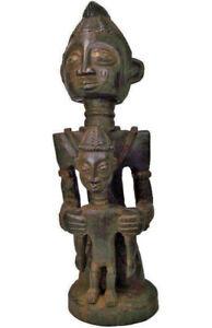 Afrika Yoruba Schrein Mutter Kind Figur Nigeria Tribal Art Kunst Stammeskunst Einen Effekt In Richtung Klare Sicht Erzeugen