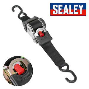 Sealey Auto Retractable Ratchet Tie Down Strap 50mm X 3 Metre ATD50301