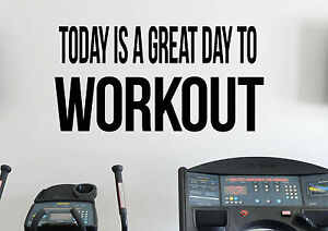 Details about Workout Motivational Quotes Wall Decal Inspirational Quotes  Vinyl Sticker Gym 7