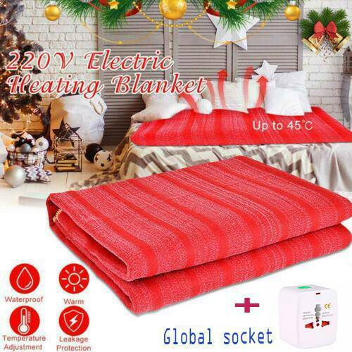 3 Gears Controller 2 SIZES  Anticreep Electric Heated Blanket Rapid Heating