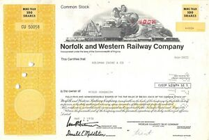 Norfolk-and-Western-Railway-Compagny-Certificate-1978-50058