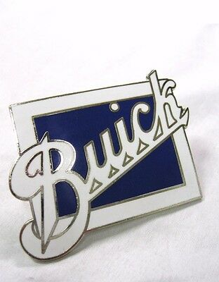 "Classic Large Buick Script Authentic Radiator Emblem 2"" Tall x 2-1/2"" Wide BUICK"