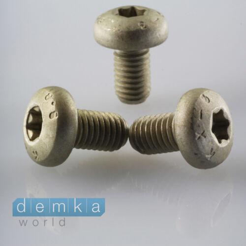 10x universal tornillo TORX gris 8,8 x 14 x 15 mm culatas para fijación