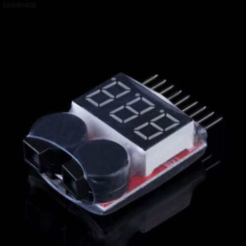 2631 1S-8S RC Lipo Li-ion Battery Volt Meter Low Voltage Buzzer Alarm LED Tester