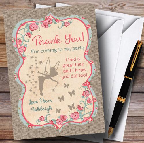 Shabby Chic Burlap fée partie cartes de remerciements
