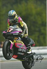 Randy de Puniet Hand Signed Aprilia 250cc 2002 12x8 Photo 1.