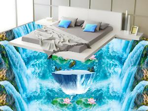 3D Waterfall River 8477 Floor WallPaper Murals Wall Print Decal 5D AU Lemon