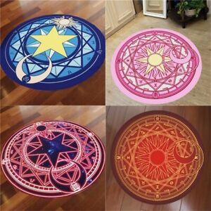Card Captor Round Mat Foot Pad  Rug Sakura Magic Circule Carpet Living Door Room