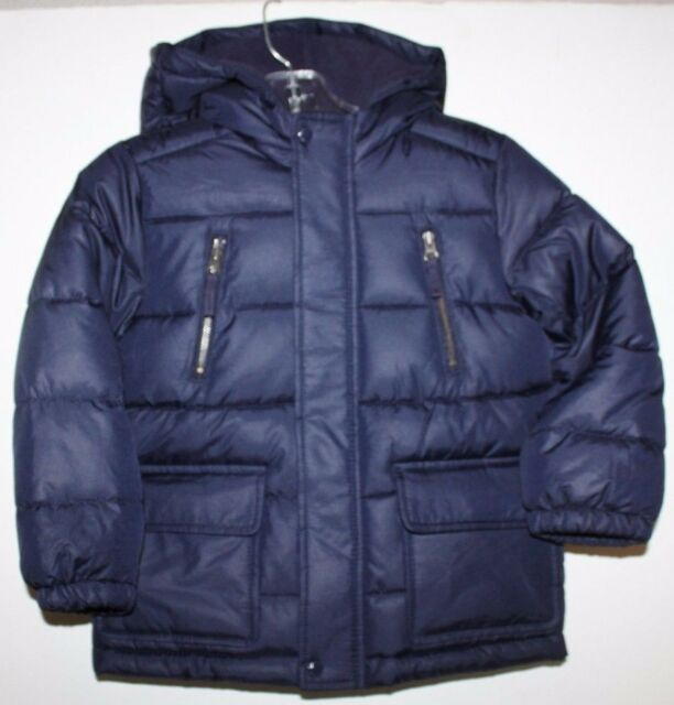 baby Gap NWT Boy Navy Blue Warmest Puffer Coat w/ Hood