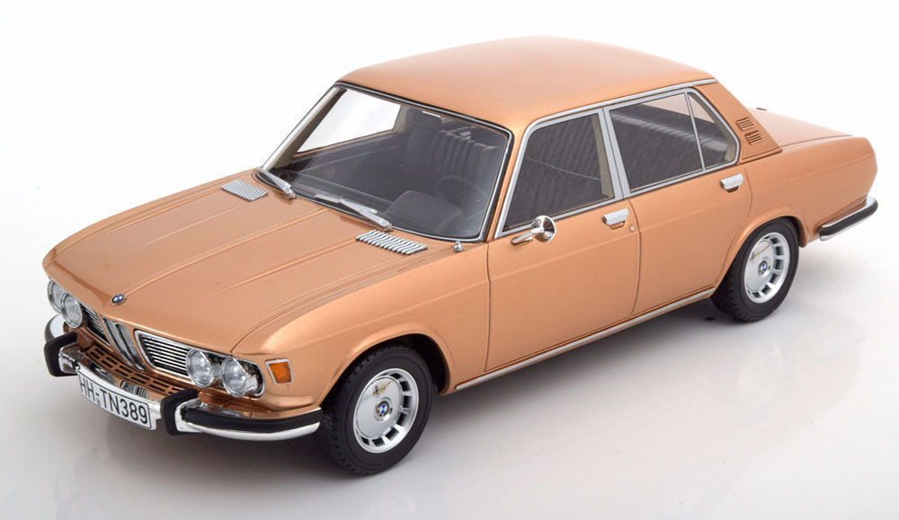 BoS 1968 BMW 2500 E3 gold color 1 18 scale  LE 504 Rare Find  Very Nice Car