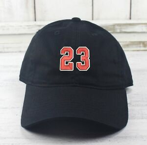 cba126a6f Details about NUMBER 23 MJ THE G.O.A.T. Baseball Cap Curved Bill Dad Hat  100% Cotton