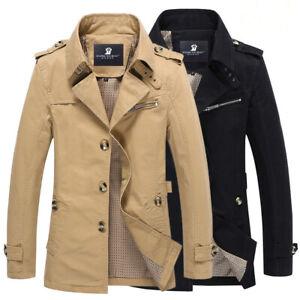 2019-Fashion-Men-039-s-Winter-Slim-Vogue-Trench-Coat-Long-Jacket-Overcoat-Outwear