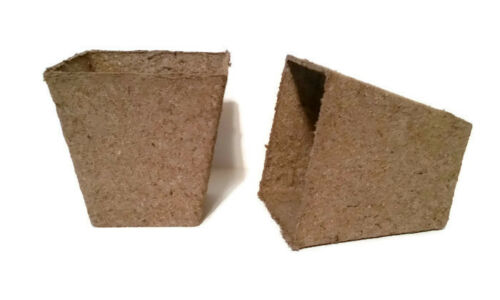 Growing Supplies Jiffy 3 Inch Square Peat Pots Seed Starting 75 each
