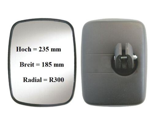 Außenspiegel Panorama Spiegel Wohnmobil Universal 235x185mm ø16-24 R300° 12//24V