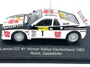 1:43 Scale CMR Replicars Lancia 037 Rally Car - W Rohrl 1983 Diecast Model