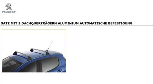 Original Peugeot 308 Série 1 3-5 Porte Barres de toit transversales Last porteur 9616w2