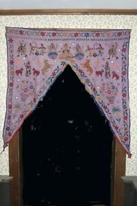 Hand Embroidered Gujratti Door Hanging from India