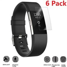 2pcs Full Coverage Clear Tempered Screen Protector Films for Fitbit Charge 2