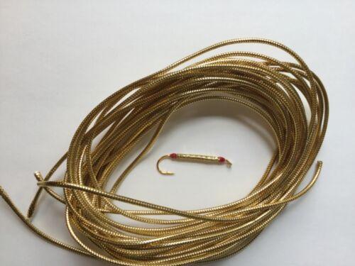 BULK LOT 15 FT GOLD MYLAR TUBING FOR FLY TYING STREAMER BODIES FISHING TROUT